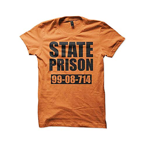 Southern Designs State Prison Jail Inmate T Shirt Halloween Costume (Large) -