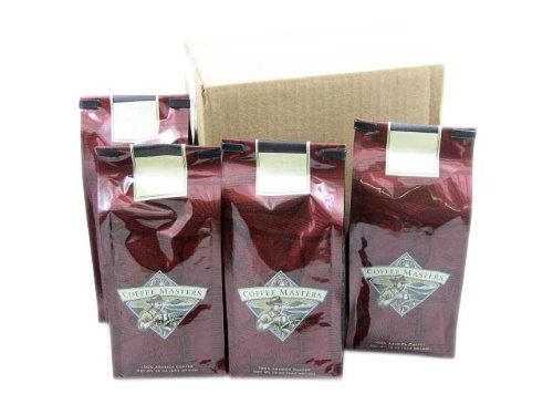 German Chocolate Cake Coffee, Whole Bean (Case of Four 12 ounce Valve Bags) by Coffee Masters