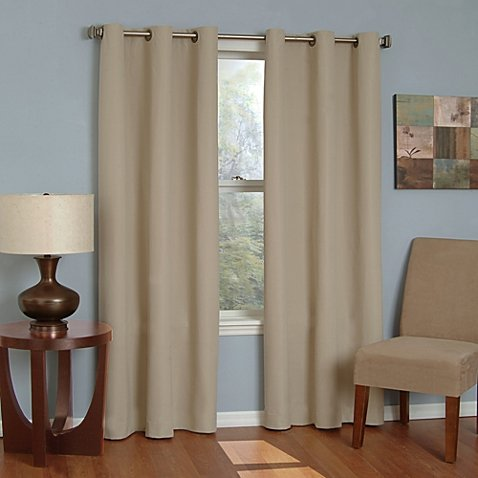 Gorgeous Home (#32) 2 PANELS SOLID TAUPE TAN 95