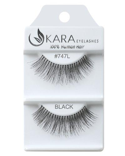 Kara Beauty Human Hair Eyelashes - 747L (Pack of 3)