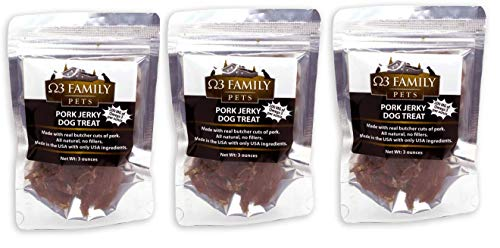 Omega 3 Dog Jerky Treats - Triple Pack - Best for Shiny Coats & Itch Free Skin - Natural Hip & Joint Support + Promotes Heart & Brain Health - - Pack Ounce Triple 9