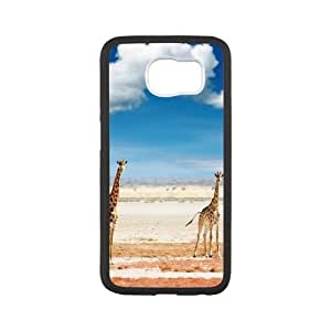 Cool Giraffes with Sunglasses Samsung Galaxy S6 Cell Phone Case White Meic