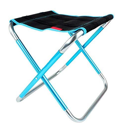 - Outdoor Folding Folding Chair Portable Aluminum Fishing Stool Barbecue Chair for Camping, Fishing