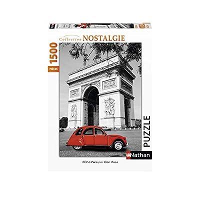 Nathan 1500 Pezzi Casse Tete Puzzle Adulto Auto 2cv Citroen Parigi Arc Trionfo 4005556877973 Nant