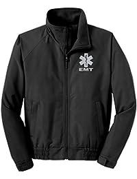 EMT Economy Jacket, Reflective Logo Fleece Lining Emergency Medical Black