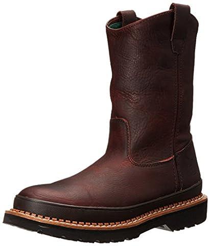Georgia Boot Men's Giant Steel Toe Pull-On Work Shoe, Soggy Brown, 11 M US