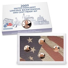 2009 S Proof Lincoln Bicentennial Cent Set Comes in original Packaging From the US Mint Extremely Fine Details