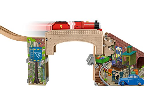 090cbd4e500c Fisher-Price Thomas the Train Wooden Railway Speedy Surprise Drop Set