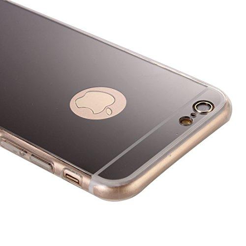 Phone Taschen & Schalen Galvanisierungsspiegel TPU Schutzhülle für iPhone 6 Plus & 6s Plus ( Color : Black )
