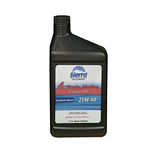 - Sierra - Marine Sterndrive 25W40 Synthetic Blend Oil, 5 Quart - 18-9440-4