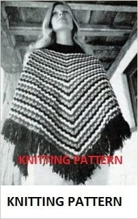 Patons Vintage KNITTING PATTERN, Poncho, Length from