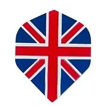 5 Sets of 3 Dart Flights - M171 - Union Jack British flag Poly Super Metronic Standard Flights