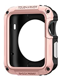 Spigen Tough Armor Apple Watch Series 2 Case with Extreme Heavy Duty Protection and Built In Screen Protector for Apple Watch Series 2 42mm (2016) - Rose Gold