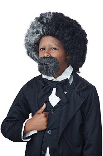 California Costumes Men's Frederick Douglas, Black/Gray, One Size (Beard With Goatee)