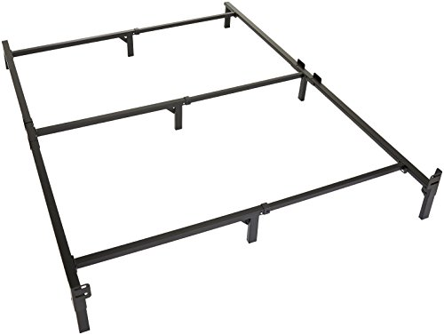 (Amazon Basics 9-Leg Support Metal Bed Frame - Strong Support for Box Spring and Mattress Set - Queen Size Bed)