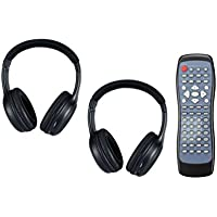 Invision Compatible Wireless Headphones and DVD Remote Control Combo