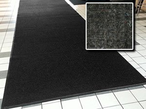 Heavy Duty Entry Door Mat - ''FloorGuard'' - 3' x 8' - Charcoal - Commercial/Industrial Highly Absorbent Entrance Doormat by FloorGuard (Image #4)
