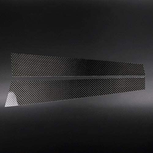 TOOGOO Carbon Fiber Car Window B-Pillars Molding Trim Car Styling Stickers for BMW 3 Series E46 Accessories