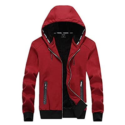 - 41u92DLxiTL - Men's Casual Fit Full Zip Hoodi Jacket