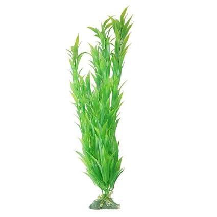 Amazon.com : eDealMax Peces de plástico tanque de agua de la decoración de la planta de hierba, DE 18, 5 pulgadas, Verde : Pet Supplies