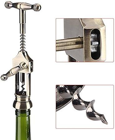 Abrebotellas de Vino Retro Sacacorchos Tirador de Corcho Herramientas de Barras Tapón de botella Saver para Camareros Bartenders Sommeliers