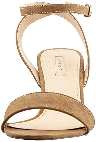 ESPRIT Bless Sandal, Sandalias de Tacón Mujer Marrón (225 Toffee)