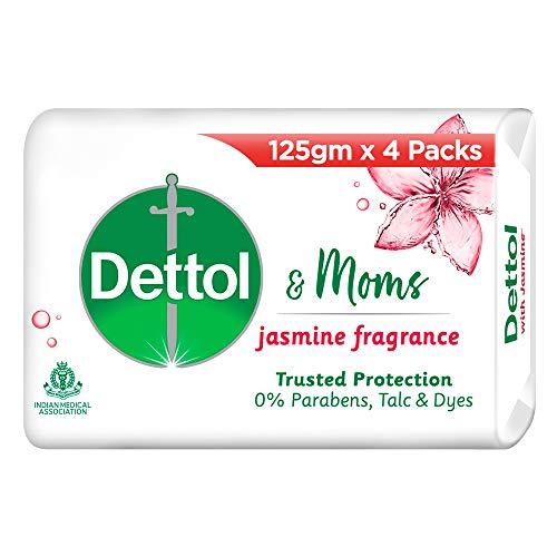 Dettol & Moms Bathing Soap Jasmine, 125gm, BUY 3 GET 1 FREE