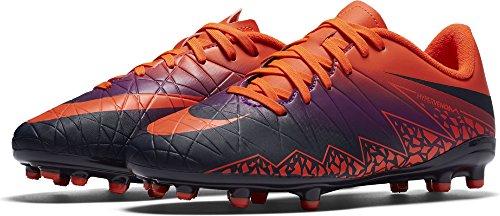 Nike 744943-845, Botas de Fútbol para Niños Naranja (Total Crimson / Obsidian-Vivid Purple)