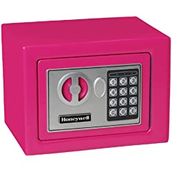 HONEYWELL - 5005P Steel Security Safe with Digital Lock, 0.17-Cubic Feet, Pink