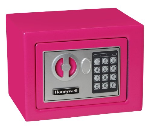 Honeywell Safes & Door Locks 5005P HONEYWELL-5005P Steel Security Safe with Digital Lock, 0.17 Cubic Feet 0.17 Cubic Feet Pink