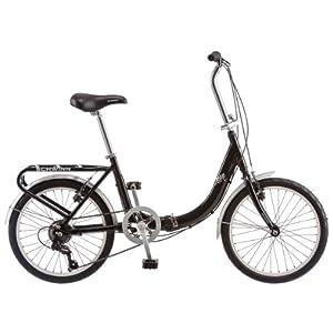 Schwinn 20-Inch Loop Folding Bike, Black