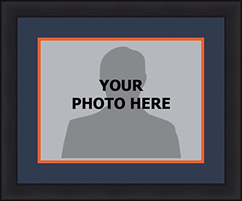 - Football Picture Photo Frames with Team-Themed Matting - All 32 Teams (Bears (Navy Matting, Orange Trim), 8