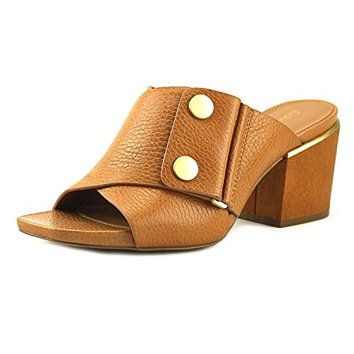 Calvin Klein Womens jolle Glazed Tumble Open Toe Clogs, Almond Tan, Size 7.0