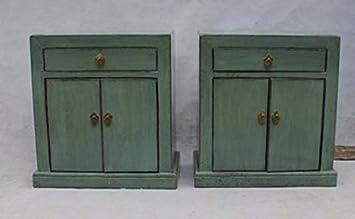 Nachttisch Chinese Furniture Nachttisch Klein Antik Schrank Mintgreen  Lackiert Unterschrank Nachttischmöbeln Oriental Asiatischen Wohnzimmer  Schlafzimmer ...