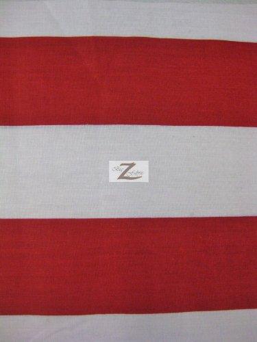 Amazoncom Whitered 2 Giant Stripe Poly Cotton Fabric 5859