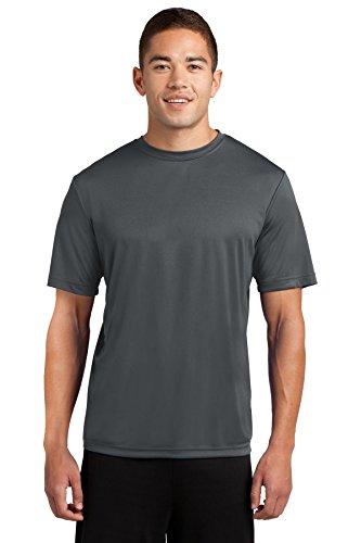 Dri-Tek Mens Big & Tall Short Sleeve Moisture Wicking Athletic T-Shirt, 2XLT, Iron Grey