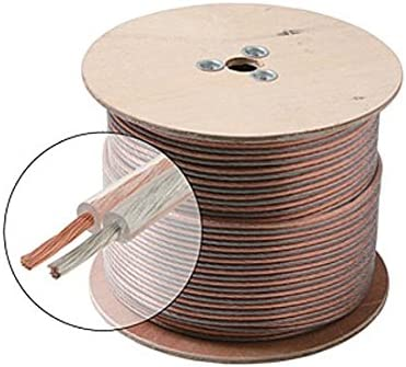 500 FT 14 AWG GA Speaker Cable 2 Wire Pure Copper Clear Jacket Pro Zip 100/% Copper Pro Grade Pure Copper Speaker Cable HI-FI Digital Audio Home Theater Cable Spool