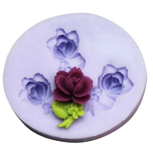Handmade Polymer Rose Clay - Lovely Rose Silicone Resin Clay Molds Handmade Resin Mold Polymer Clay Mold
