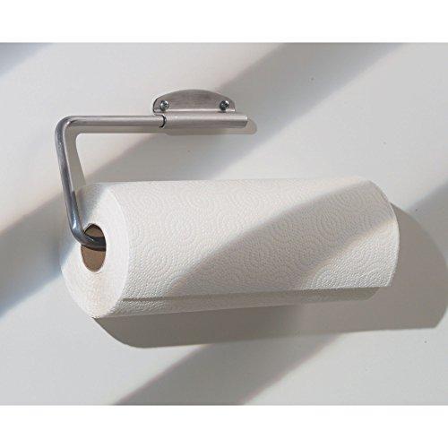 interdesign forma swivel paper towel holder for kitchen wall mount under cabinet brushed. Black Bedroom Furniture Sets. Home Design Ideas