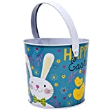 Gift Boutique Metal Tin Easter Bucket Pails, Set of