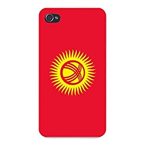 Apple iPhone Custom Case 5c White Plastic Snap On - World Country National Flags - Kyrgyzstan