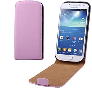 High Quality Pure Color Vertical Flip Leather Case for Samsung Galaxy S IV mini / i9190 (Pink)