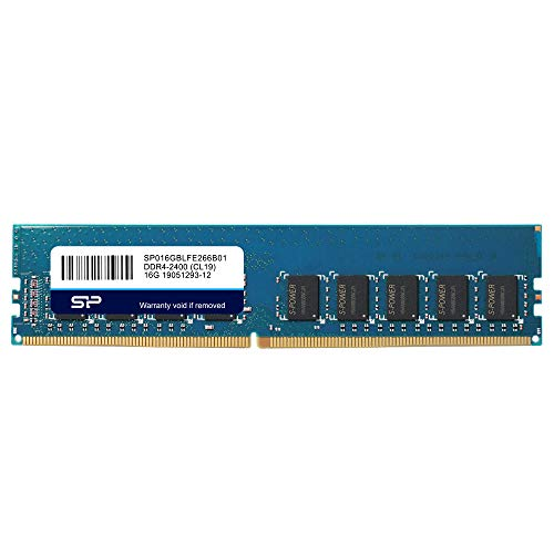 Silicon Power Original Hynix IC DDR4 16GB 2666MHz (PC4-21300) 288-pin CL19 1.2V 2Rx8 ECC UDIMM Server Memory RAM Module Upgrade (SP016GBLFE266B01)