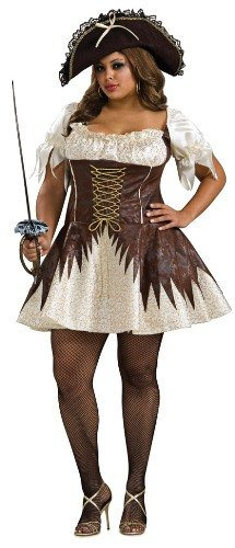 Secret Wishes Plus Size Buccaneer Pirate Costume, White, Plus