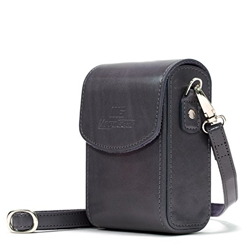 MegaGear Nikon Coolpix A900 Leather Camera Case with Strap - Gray - MG1217