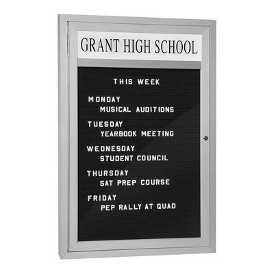 Marquee Directory with Aluminum Finish Frame