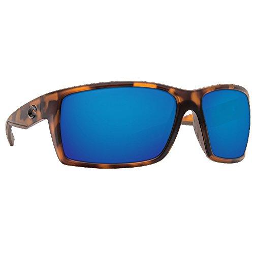 Costa Del Mar RFT66OBMP Reefton Sunglass, Matte Retro Tort Blue - Costa Sunglasses Reefton