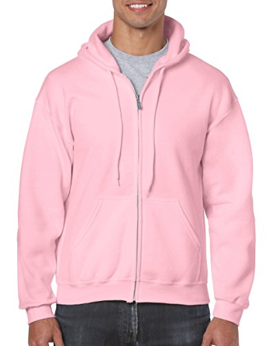 Gildan Adult Heavy BlendFull-Zip Hooded Sweatshirt - Light Pink - XL ()