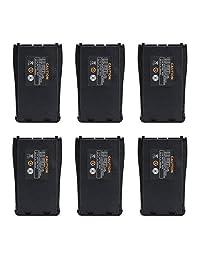 BAOFENG - Batería recargable de repuesto para radio BF-888S Arcshell AR-5 (6 unidades, 1500 mAh, 3,7 V)