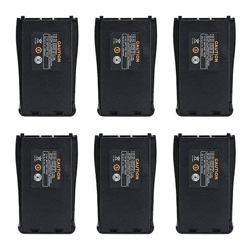 LUITON Original Replacement Rechargeable Li-ion 1500 mAh 3.7V Battery Pack Compatible with Baofeng BF-888S Arcshell AR-5 Retevis 777s Two-Way Radio(6 Packs)